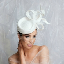 bb22 guibert headpiece in white with silver