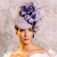 lilac cupcake hat from guibert millinery