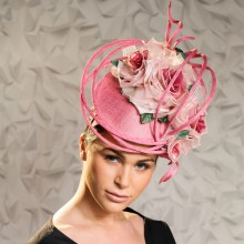 new guibert headpiece in pinks with roses