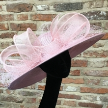 pink large brim by islay tantay millinery