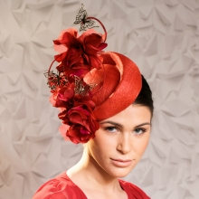 red butterfly headpiece by guibert