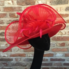red east-west brim with pleated loops