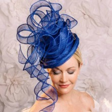 royal blue headpiece fascinator