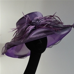 by suzanne bettley. freeform brimmed hat in lustrous lilac.