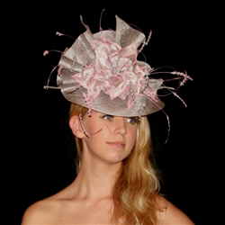 Fascinator/Headpiece in Pink Silver