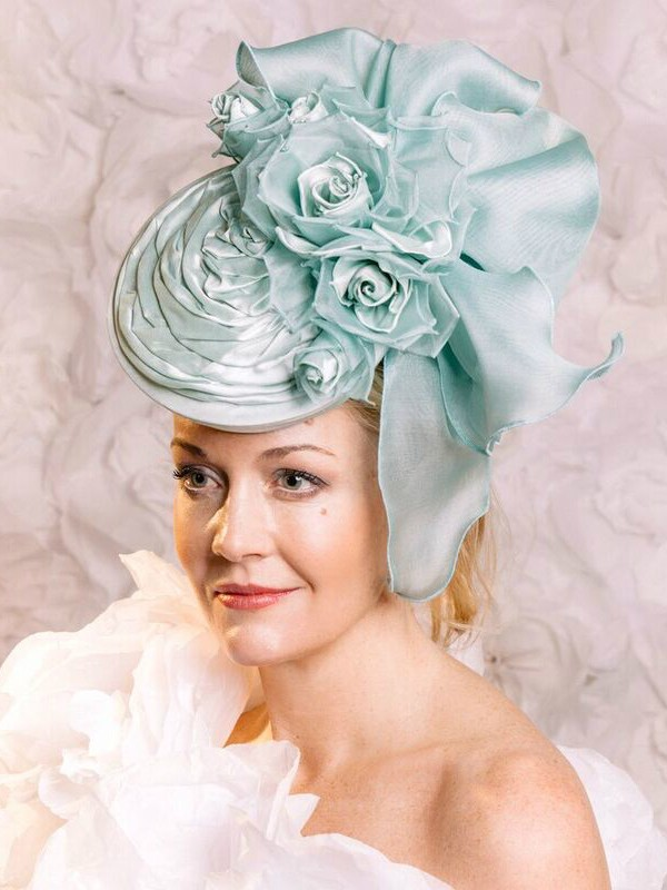 New from Guibert Millinery Mint Green headpiece hat fascinator e33bc87c001