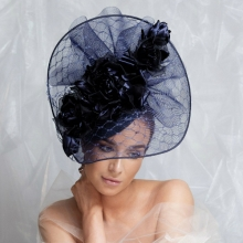 bb24 guibert headpiece in navy blue