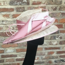 vivien sheriff double brim hat in pinks