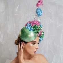 bb19 guibert metallic floral headpiece