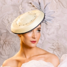 pale yellow mini hat by islay tantay millinery