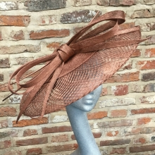 copper basket woven coolie by guibert