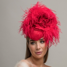 rtv24 lace feather headpiece by guibert
