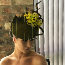 ib12 guibert green silk headpiece