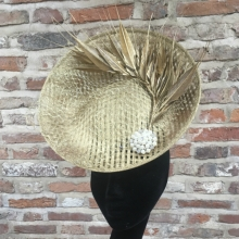 gold basket woven saucer by islay tantay