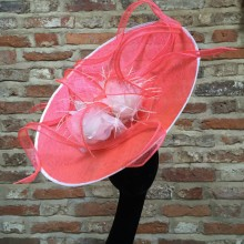 fluorescent pink front mounted saucer