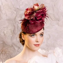 straw beret with roses by islay tantay millinery