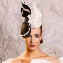 mono wave headpiece by guibert millinery
