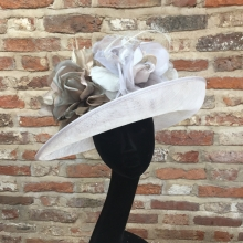 classic upturned brim hat in oyster grey