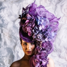 catwalk headpiece by guibert millinery