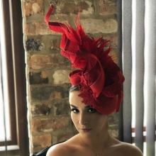 lace beret sculptured headpiece