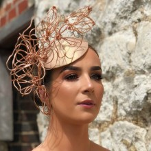 guibert rose gold sculpture headpiece