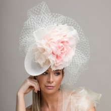 rtv19 veiled pastel guibert headpiece