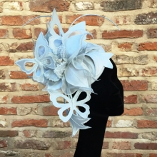 guibert butterfly headpiece in pale blue
