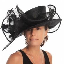 black hat with pleated loops. ref. wah g1