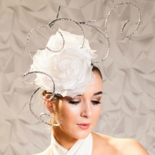 guibert headpiece with white roses