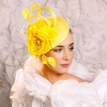 vibrant yellow beret by islay tantay millinery