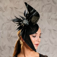 black and silver angled headpiece