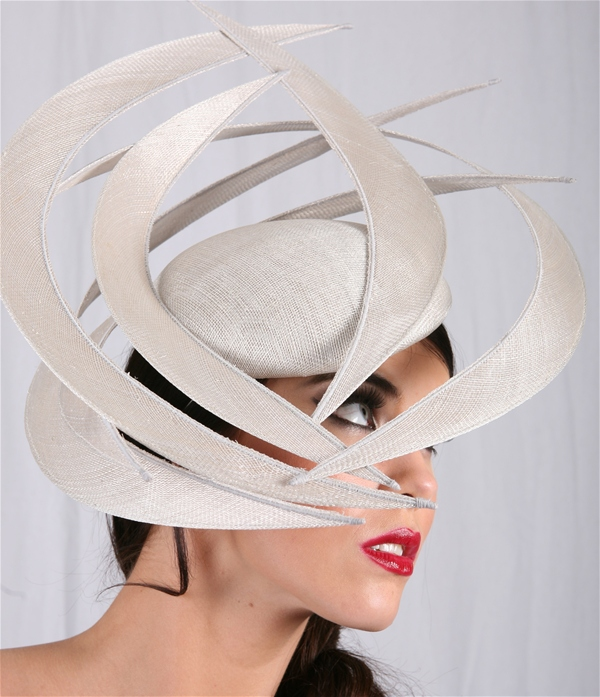 Geometric Hat Fascinator in Silver ba6a905412f